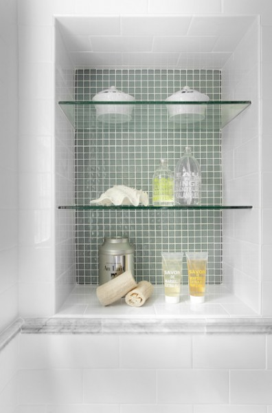 Bathroom Niche w/Glass Shelves