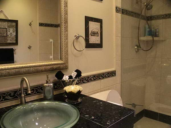 Bathroom with Decorative Tile