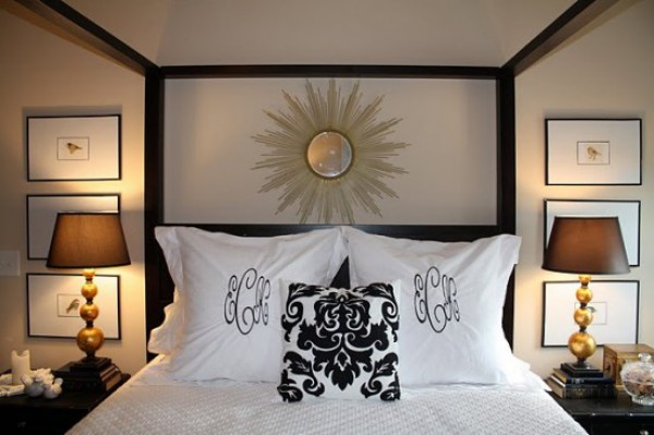 Sunburst Mirror in Bedroom Design
