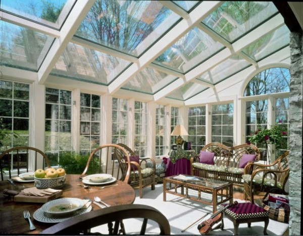 Sunroom with Glass Ceiling
