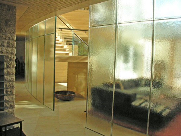 Living Room With Glass Partitions