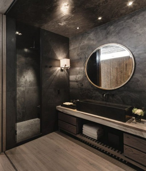 Shower with Smoked Gray Glass