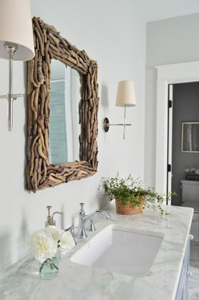 Master Bath with Driftwood Framed Mirror