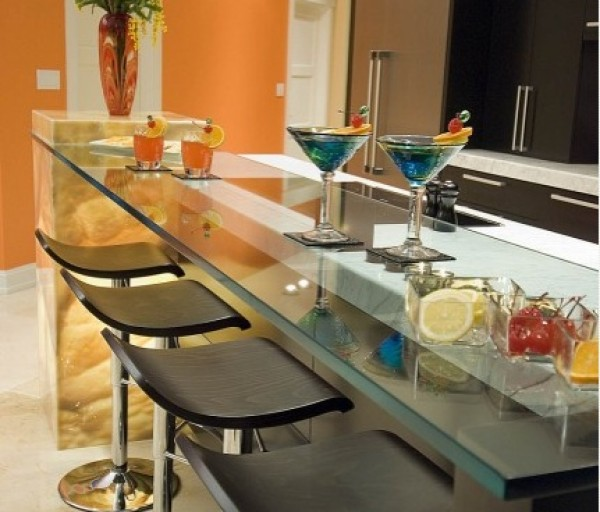 Kitchen Raised Glass Countertop