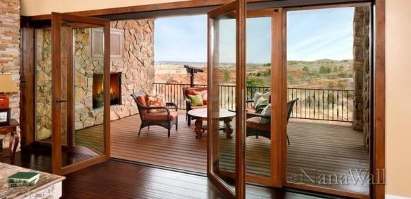 Wooden Folding Patio Doors