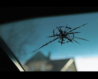 Windshield with a Crack