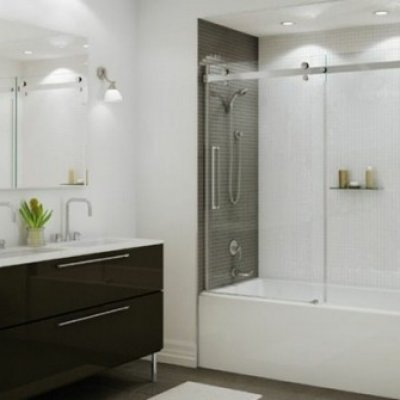 Sliding Barn Door Tub Enclosure