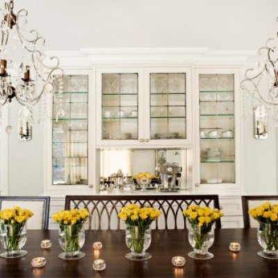 Dining Room with Custom Built-In China Cabinet