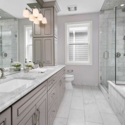 Euopean Shower & Large Vanity Mirrors