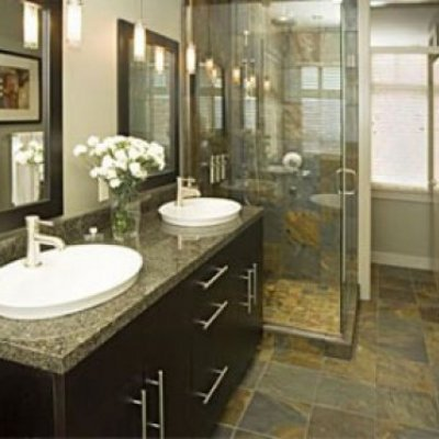 Frameless Shower Enclosure & Vanity Mirrors