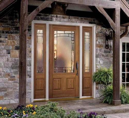 Fiberglass Entry Door w/Expo Element Windows